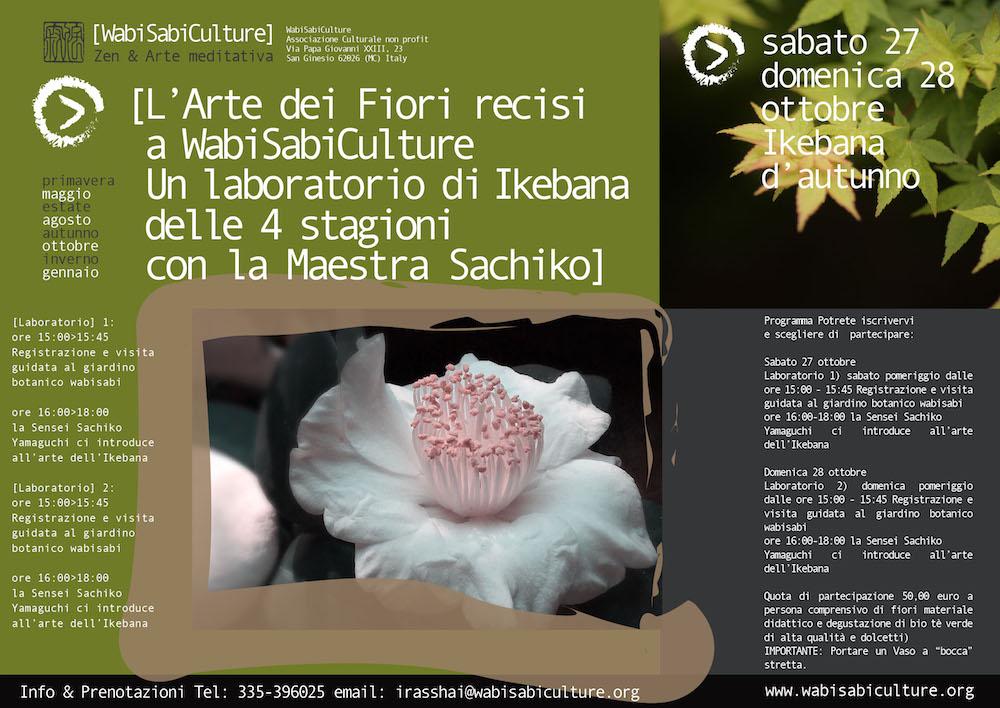 Wabi Locandina Ikebana ottobre 2018
